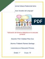La Aplicación de Fichas Didácticas en La Escuela Primaria
