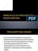 Principles of Prescription Order Writing