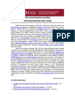 Israel-Palestine Conflict - IIHA News Brief