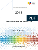 Instructivo Matematica Bach 2013