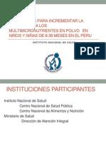 Victor Suarez Estrategias Para Incrementar La Adherencia a Los Multimicronutrientes en Polvo en Ninos y Ninas de 6 36 Meses en El Peru