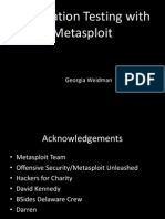 Pentesting with metasploit