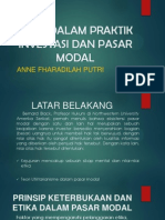 Etika Dalam Praktik Investasi Dan Pasar Modal