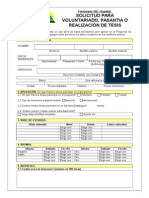 Forma 102 Aplicacion Para Voluntarios Espaniol