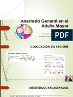 Anestesia General en El Adulto Mayor