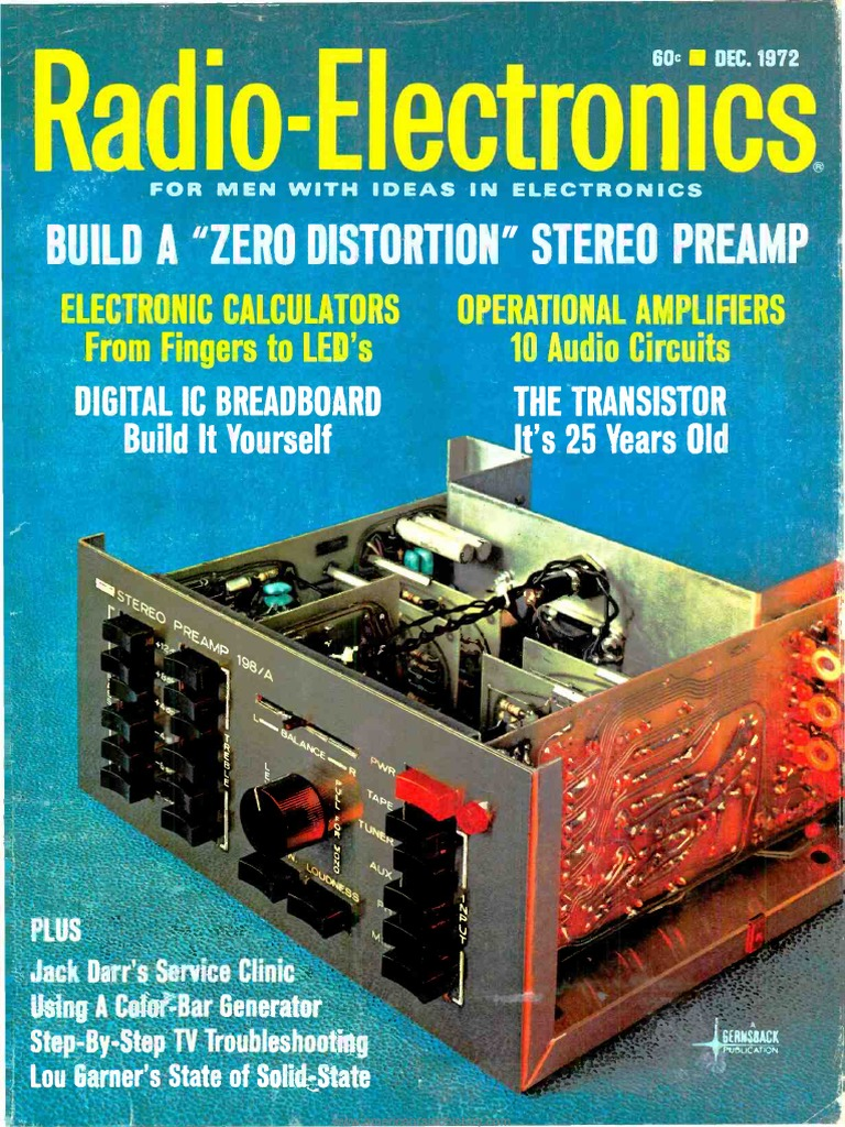 Re 1972 12 Gramophone Record Television Circuits Gt 12v To 9v 2a Step Down Dc Converter Using Ic 741 And