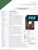 `Abdu'l-Bahá - Wikipedia