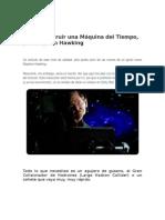 Hawking y La Máquina Del Tiempo