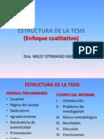 Estructura de La Tesis de Pre Grado ENFOQUE CUALITATIVO A