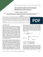Improved Block Based Segmentation for Jpeg