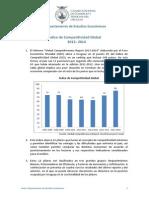 Informe 201 Índice de Competitividad Global 2013 2014