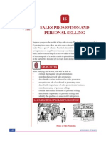 Lesson 16_SALES PROMOTION AND Personal selling