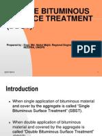 Double Bituminous Surface Treatment (Dbst)