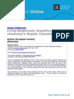 Biopolitics and Urban Citizenship in Bogota