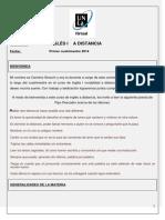 Generalidades de La Materia Primer Cuatrimestre 2014
