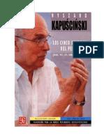 Los Cinco Sentidos Del Periodista, Riszard Kapuscinski