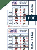 aflc 2014 season schedule