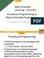 Procedural vs Object Oriented Languages