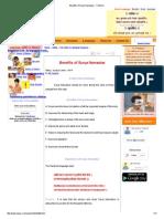 Benefits of Surya Namaskar - Children