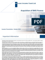 Bms Finance Acquisition 07-11-2012