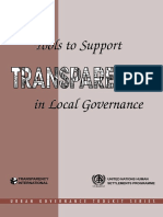 Tools to Support Transparency in Local Governance
