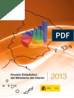 Anuario estadístico 2013, del Ministerio del Interior