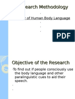 research methedology, study of human body language