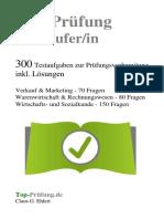 Top-Prüfung Verkaeufer /-in Probe