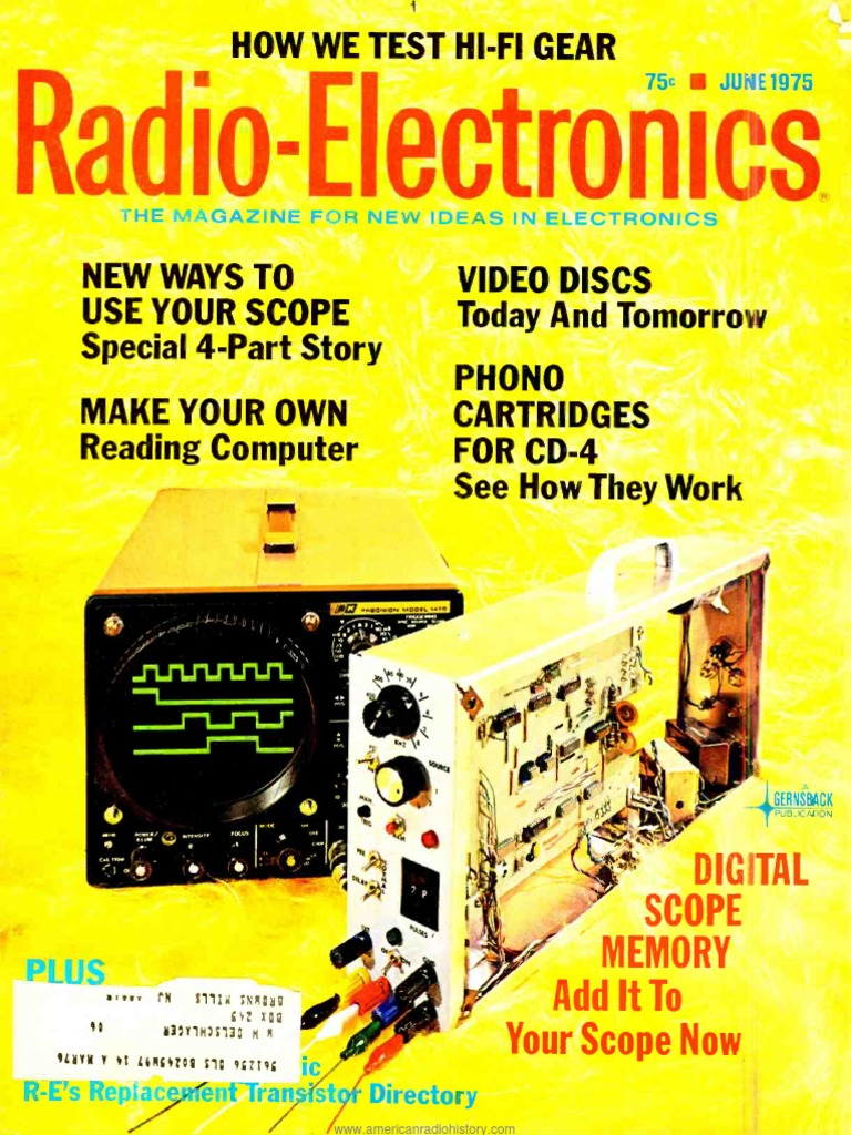 Re 1975 06 Television Central Processing Unit Standard 1n4007 Vs Schottky 1n5819 Electronics Club Fans
