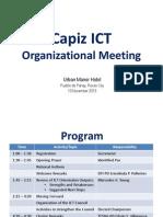 ICT Orgl Meeting
