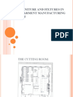Furniture and Fixtures in a Garment Manufacturing Unit