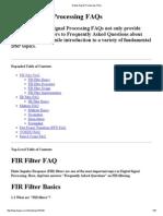 Digital Signal Processing FAQs