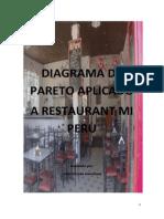 Diagrama de Pareto Aplicado a Restaurant Mi Peru