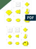 Langkah Langkah Cara Membuat Origami Ikan 1