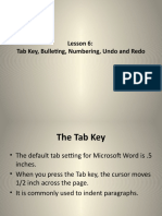 microsoft word tutorial...lesson 6