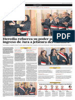 Heredia Refuerza Su Poder Político Con Ingreso de Jara a Jefatura Del Gabinete