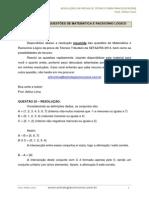 Resolução Prova Técnico Raciocínio Lógico e Matemática Sefaz Pe