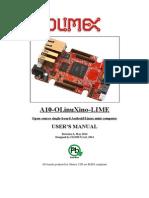 A10 OLinuXino LIME Manual