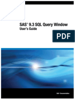 SAS® 9.3 SQL Query WindowUser's GuideSAS®