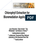 Chlorophyll Extraction Poster