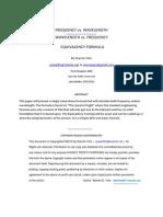 FREQUENCY - WAVELENGTH EQUIVALENCY FORMULA