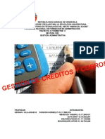 Trabajo Gestion de Creditos y Cobros