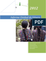 Informe Unidad de Genero Marzo-mayo 2012