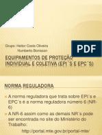 Equipamentos de Proteção individual e coletiva (EPI´s