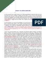 Lezione n. 3 - Forme Di Comunicazione. La Critica Musicale