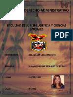 Ana Georgina Morales de Peña Dossier Derecho Administrativo II Ciclo II-2012