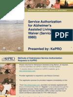Alzheimer Waiver