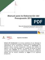 Manual de Presupuesto 2015