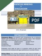 Emerg. Mineras, Evacuación y Simulacros