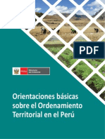 Orientaciones de Ordenamiento Territorial en El Peru